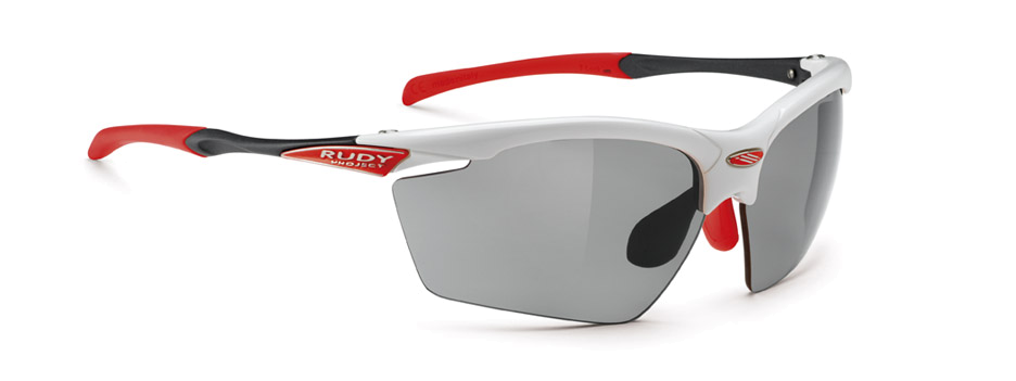 Agon White Gloss | ImpactX Photochromic Polarized Grey